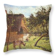 Field At Varengeville Throw Pillow by Camille Pissarro