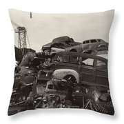 Field of Woody Dream Cars Throw Pillow by Jack Pumphrey