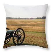 Fields Of Death Throw Pillow by Richard Rizzo