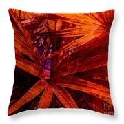 Fiery Palm Throw Pillow by Susanne Van Hulst