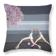 Fifteen Throw Pillow by Patricia Van Lubeck