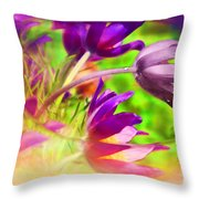 Fighting Circumstances Throw Pillow by Cathy  Beharriell