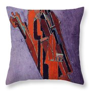 Figure Study Design For Sculpture Throw Pillow by Lawrence Atkinson