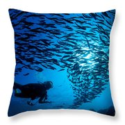 Fiji, Galapagos Islands Throw Pillow by Dave Fleetham - Printscapes