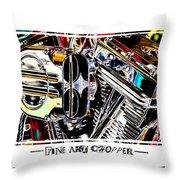 Fine Art Chopper II Throw Pillow by Mike McGlothlen