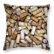 Fine Wine Corks Throw Pillow by Frank Tschakert