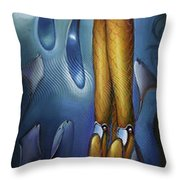 Finfaerian Odyssey Throw Pillow by Patrick Anthony Pierson
