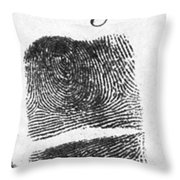 Fingerprints Of Vincenzo Peruggia, Mona Throw Pillow by Photo Researchers