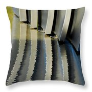 Fins Throw Pillow by Donna Blackhall