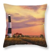 Fire Island Lighthouse Throw Pillow by Diane Romanello