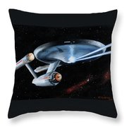 Fire Phasers Throw Pillow by Kim Lockman