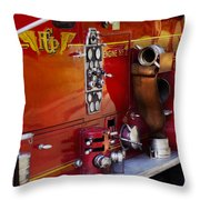 Fireman - Engine No 2  Throw Pillow by Mike Savad