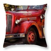 Fireman - The Garwood Fire Dept Throw Pillow by Mike Savad