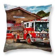 Fireman - Union Fire Company 1  Throw Pillow by Mike Savad