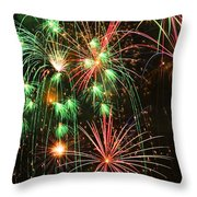 Fireworks 4th Of July Throw Pillow by Garry Gay