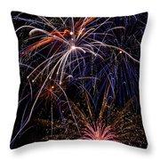 Fireworks Celebration  Throw Pillow by Garry Gay