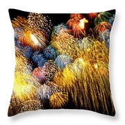 Fireworks Exploding  Throw Pillow by Garry Gay