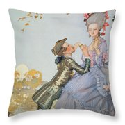 First Love Throw Pillow by Konstantin Andreevic Somov