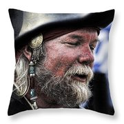 First Mate Throw Pillow by David Patterson