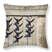 Fish Tail Shack Throw Pillow by John Greim
