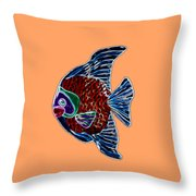 Fish Tales Throw Pillow by Shane Bechler
