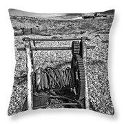 fishing boat graveyard 8 Throw Pillow by Meirion Matthias
