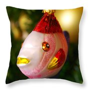 Fishy Ornament Throw Pillow by Jera Sky