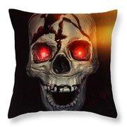 Flame Eyes Throw Pillow by Joana Kruse