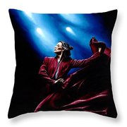 Flamenco Performance Throw Pillow by Richard Young
