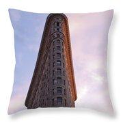 Flat Iron Building Throw Pillow by Henri Irizarri