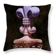 Fleur De Lis V Throw Pillow by Tom Mc Nemar