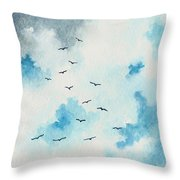 Flock Of Birds Throw Pillow by Michael Vigliotti