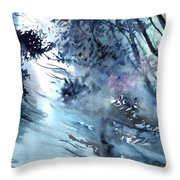 Flooding Throw Pillow by Anil Nene