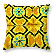 Floor Of Tiles By Michael Fitzpatrick Throw Pillow by Mexicolors Art Photography