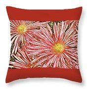 Floral Design No 1 Throw Pillow by Ben and Raisa Gertsberg