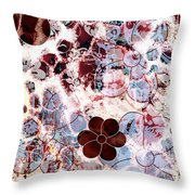Floral Essence Throw Pillow by Frank Tschakert