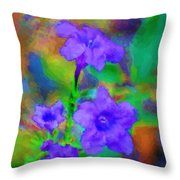 Floral Expression Throw Pillow by David Lane