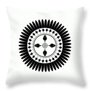 Floral Ornament Throw Pillow by Frank Tschakert