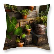 Flower - Plant - A summers soak  Throw Pillow by Mike Savad