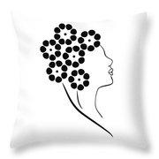 Flower girl Throw Pillow by Frank Tschakert