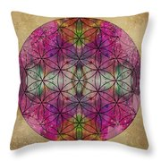 Flower of Life Throw Pillow by Filippo B