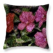 Flower Sketch Throw Pillow by David Lane