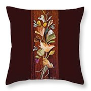Flowers For Catherine Throw Pillow by Sarah Loft