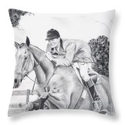 Focused Throw Pillow by Joette Snyder