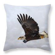 Foggy Flight Throw Pillow by Mike  Dawson