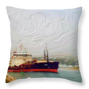 Foggy Morro Bay Throw Pillow by Methune Hively