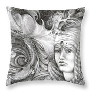 Fomorii King And Queen Throw Pillow by Otto Rapp