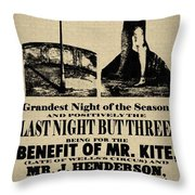 For The Benefit Of Mr Kite Throw Pillow by Bill Cannon