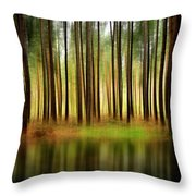 Forest Abstract Throw Pillow by Svetlana Sewell
