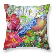 Forest Guardian Throw Pillow by Deborah Younglao